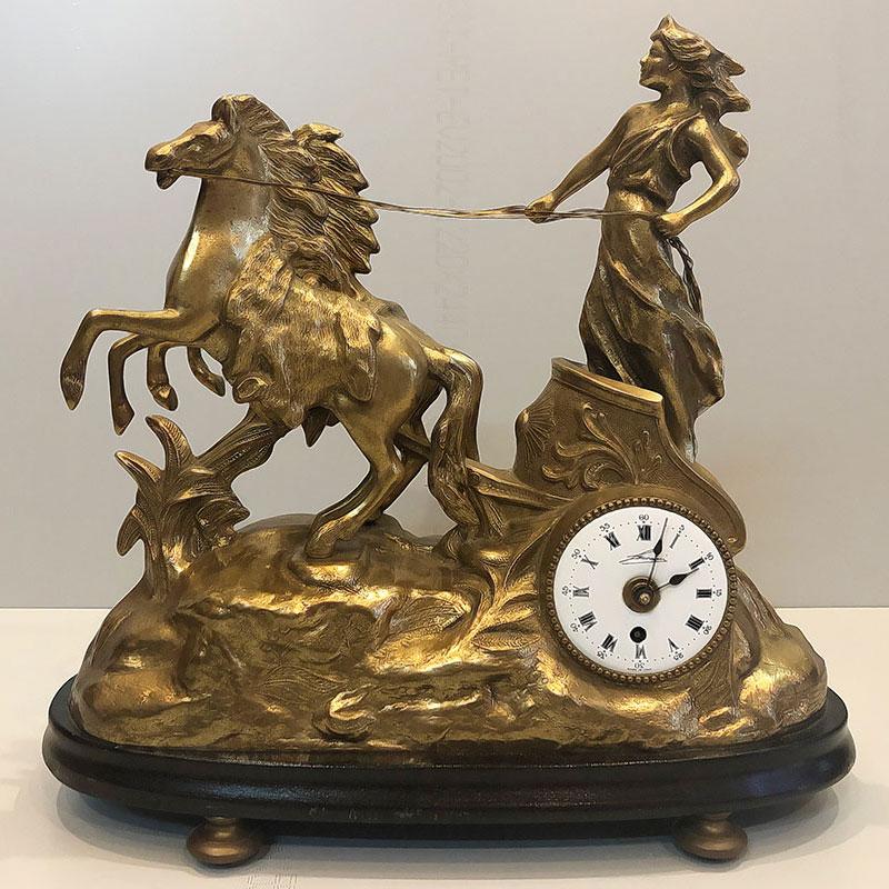 Đồng hồ máy Đức, tượng đồng Ý DHDB14