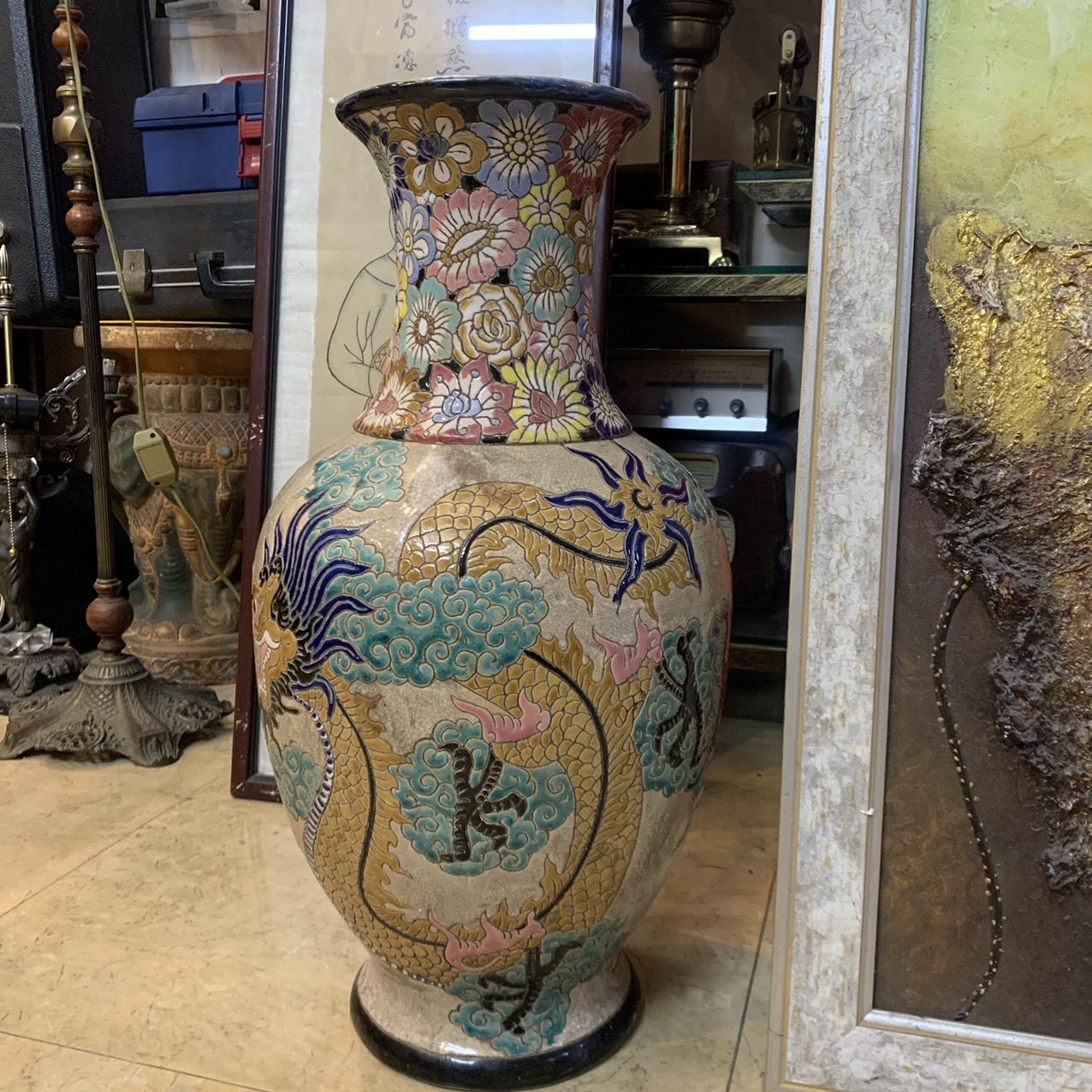 Bình Rồng Bách Hoa – Gốm Biên Hòa xưa